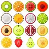 Fruits plats d'icône Photographie stock libre de droits
