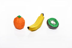 Fruits from play clay. Stock Photography