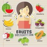 Fruits pour la peau heathy Image stock