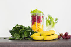 Fruits prepared for healthy raw breakfast Stock Images