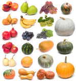 Fruits and pumpkins Stock Photo