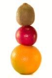 Fruits pyramid Stock Photography