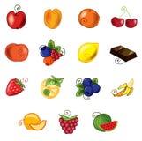 Fruits réglés illustration libre de droits