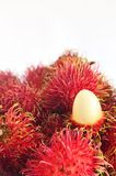 Fruits rambutan. Thai fruits rambutan on white background royalty free stock photos