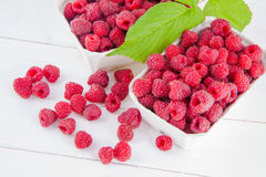 Fruits raspberries on a table Royalty Free Stock Images