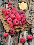 The fruits of raspberry on a plate Royalty Free Stock Photos
