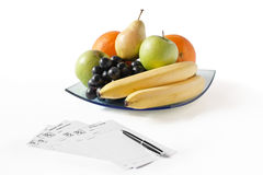 Fruits With Recipes Stock Photo
