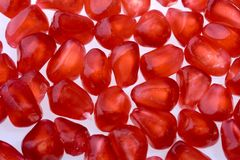 The fruits of red pomegranates Royalty Free Stock Images