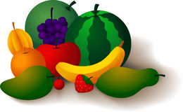 Fruits are refreshing and healthful. Vector Illustration of Fruits are refreshing and healthful Royalty Free Stock Image
