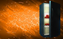 Fruits in a refrigerator Royalty Free Stock Image