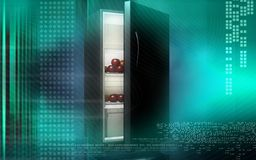Fruits in a refrigerator Royalty Free Stock Photography