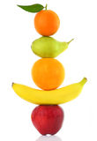 Fruits in a row Royalty Free Stock Image