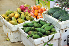 Fruits in a rural Market Stock Image