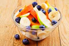 Fruits salad with blueberry Stock Image