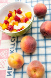 Fruits and salad Royalty Free Stock Image