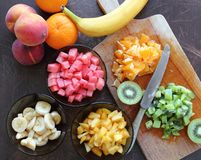 Fruits for salad Stock Image
