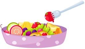 Fruits salad. Illustration of isolated fruits salad on white Stock Image