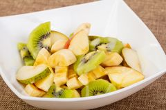 Fruits salad with kiwi. And apple stock photography