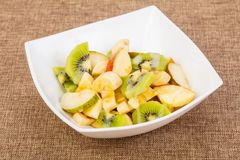 Fruits salad with kiwi. And apple royalty free stock photo