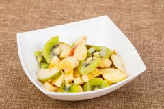 Fruits salad with kiwi. And apple stock images