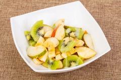 Fruits salad with kiwi. And apple stock photo