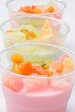 Fruits salad milk Royalty Free Stock Images