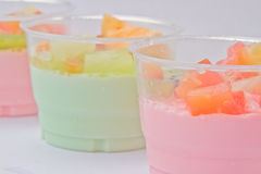 Fruits salad milk Stock Photo