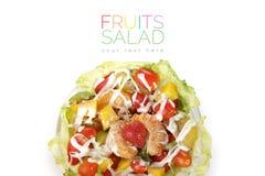 Fruits salad overhead shot royalty free stock photos