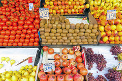 Fruits and salad for sale Stock Photography