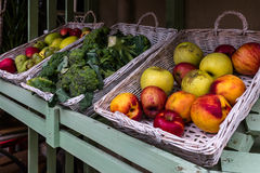 Fruits for sale exposed at market stall Royalty Free Stock Photo
