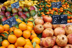 Fruits for sale on market Royalty Free Stock Image