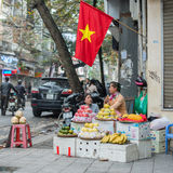 Fruits for sale in the Old Quarter of Hanoi Royalty Free Stock Photography