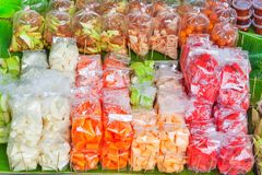 Fruits for sale at a street market Royalty Free Stock Images