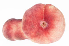Fruits of Saturn Peach isolated on white background Stock Photos