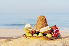 Fruits at the sea Royalty Free Stock Photo