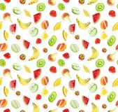 Fruits - seamless background Stock Image