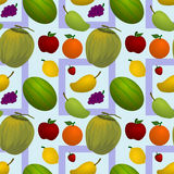 Fruits seamless background design Royalty Free Stock Photos
