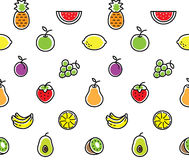 Fruits seamless background texture Stock Photography