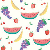 Fruits seamless pattern Stock Image