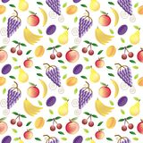Fruits seamless pattern Royalty Free Stock Images