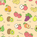 Fruits seamless Stock Image