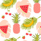 Fruits seamless pattern Royalty Free Stock Photos