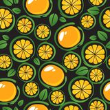 Fruits seamless-10. Fruits seamless pattern. Design element for gift wrap or fabric stock illustration