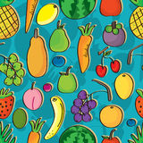 Fruits Seamless Pattern_eps Royalty Free Stock Photos