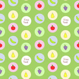 Fruits seamless pattern Royalty Free Stock Image
