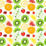 Fruits seamless pattern Royalty Free Stock Photography