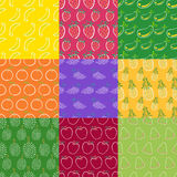 Fruits seamless pattern series 1 Royalty Free Stock Photos