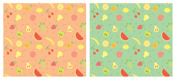 Fruits seamless pattern. Royalty Free Stock Photography
