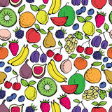 Fruits seamless pattern Stock Photo