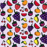 Fruits seamless pattern for your design Royalty Free Stock Photography